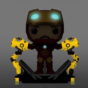 PREVENTA FUNKO POP  Deluxe Marvel: Iron Man with Gantry Special Edition